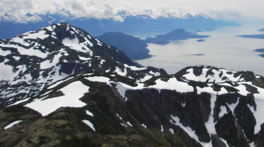 From atop the Takshanuk ridge and Mt Ripinsky looking south toward Juneau