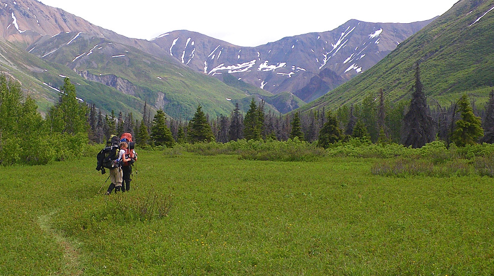 The trail is a relative moderate hike gaining only about 1000' in elevation over about 50 miles