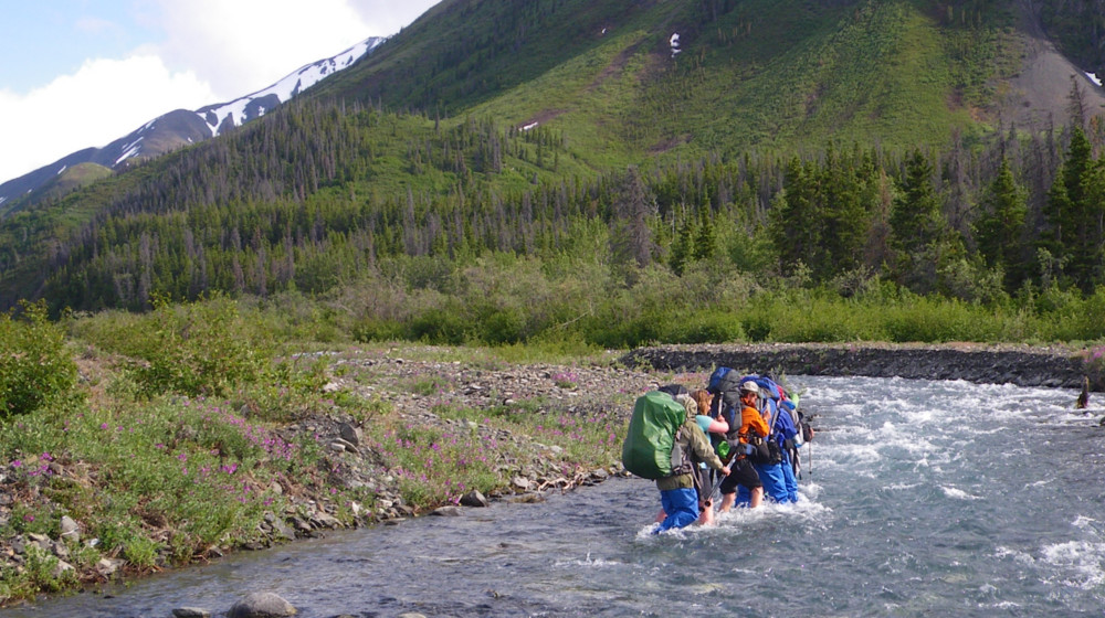 There are several streams and creeks to cross along the route, often the crux of the route depending on rain and snowmelt