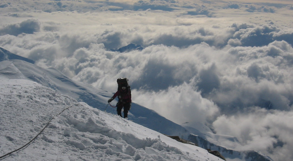 Climbing at 16,000' on the Denali's West Buttress
