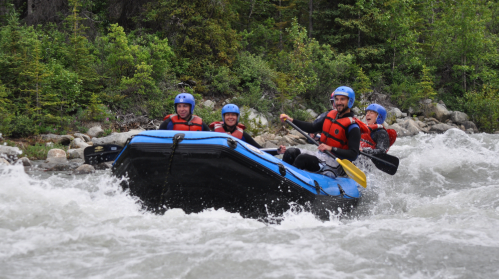 The Blachard and Upper Tatshenshini rivers offer fun Class III and IV rapids