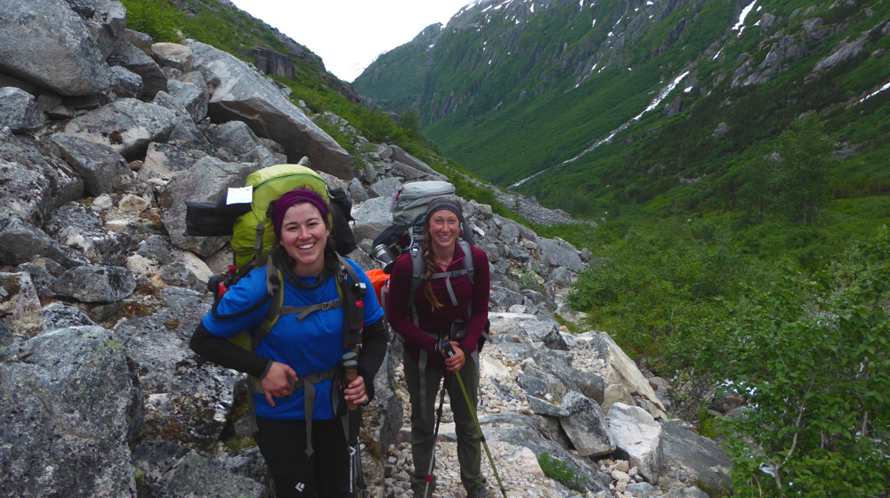 Heading up and over the Chilkoot Summit