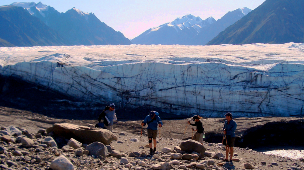 A day hike down to the face of the Donjek Glacier