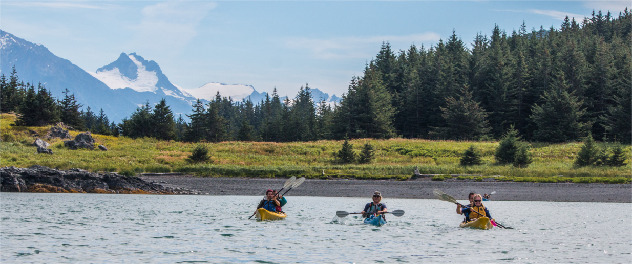 Paddling outside of Haines, AK