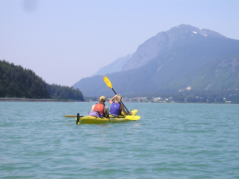 Paddling back into the town of Haines in the Lynn Canal