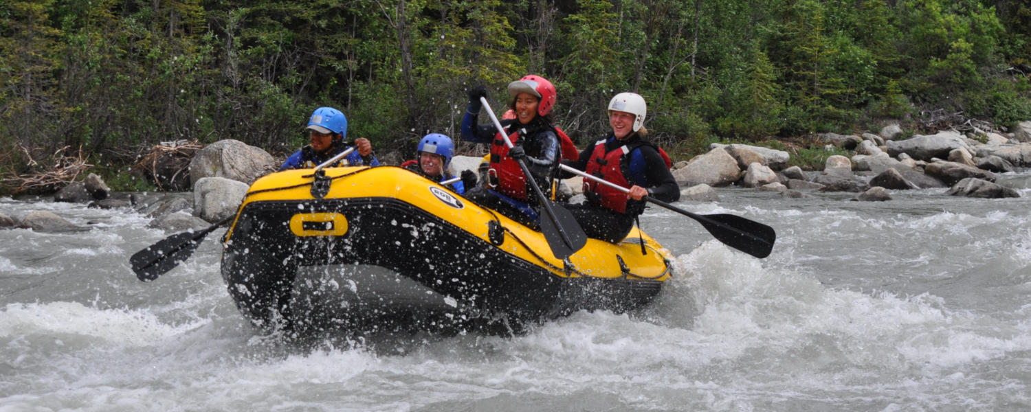 Exciting class III and IV rapids on the Blanchard river day trip