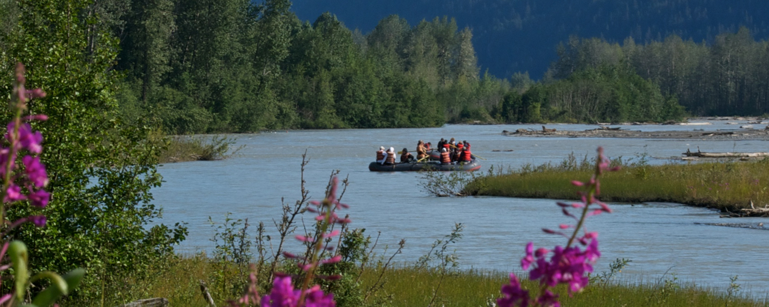 Floating down through the Bald Eagle Preserve on the Tsirku overnight rafting trip