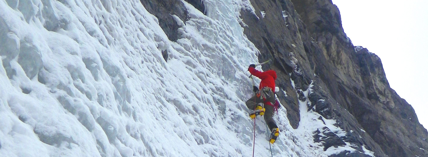 Utah offers great, accessible winter waterfall ice climbing December to February