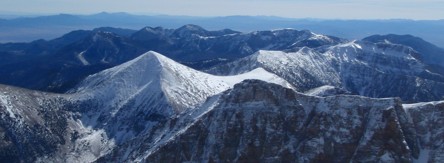 Great Basin National Park with peaks above 13,000 and seldom visited in the winter