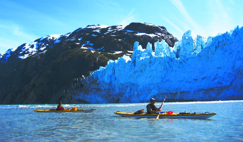 Kayaking in the upper reaches of the West Arm of Glacier Bay