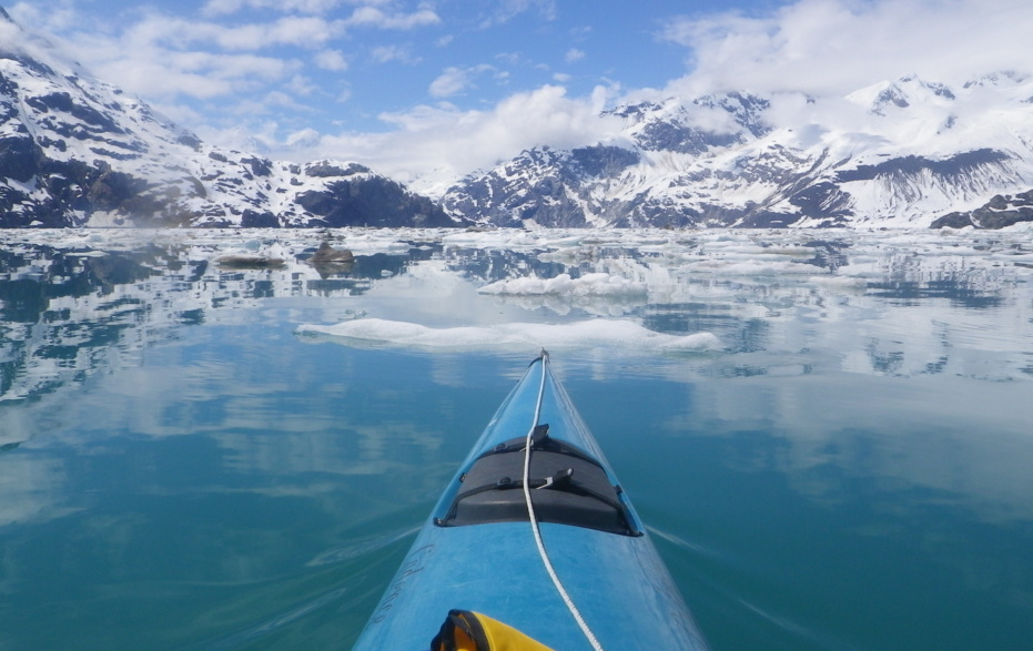 Early season paddling in Glacier Bay