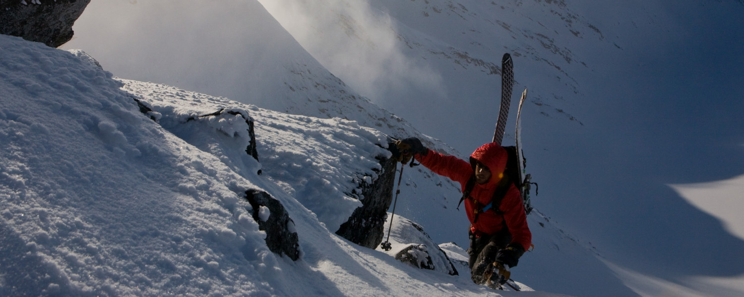 Ski mountaineering outside of Haines - Jay Beyer