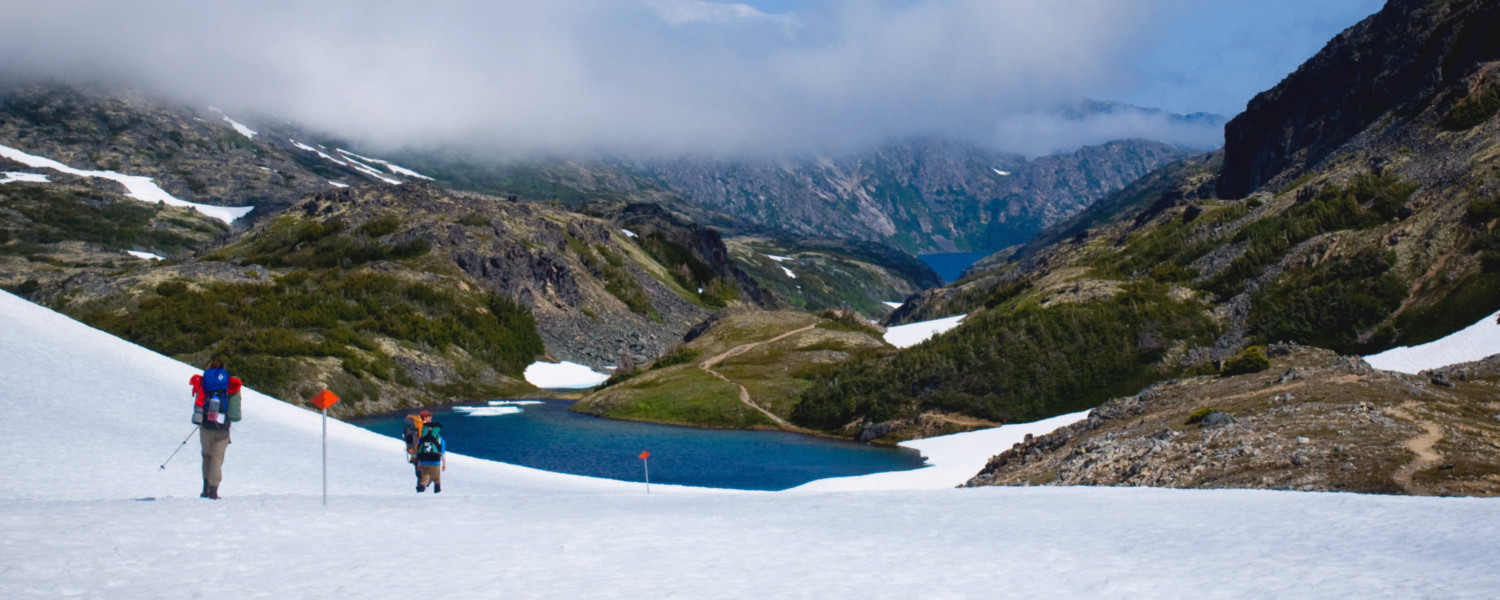 Crossing over the Chilkoot Pass in late June