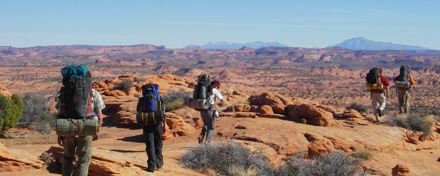 Setting out on a 5-day backpacking trail in Escalante-Grand Staircase National Monument