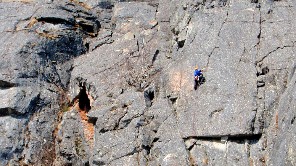 Multi-pitch alpine routes offer fun, adventurous climbing options